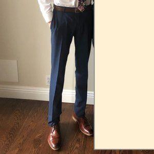 Mens Slim Dress Pants Navy 31 Waist